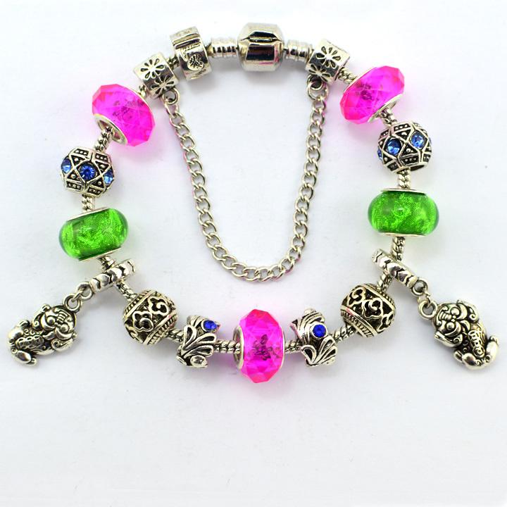 2015 Fish Charm DIY Bracelets & Bangles Glass Lovely Fashion Pendant Beads Women Gift Girl Accessory JB31502 - Blue Ocean Trend Trading store