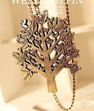 A0063 Europe and America jewelry wholesale retro bird tree letter necklace Necklace Chain female(China (Mainland))