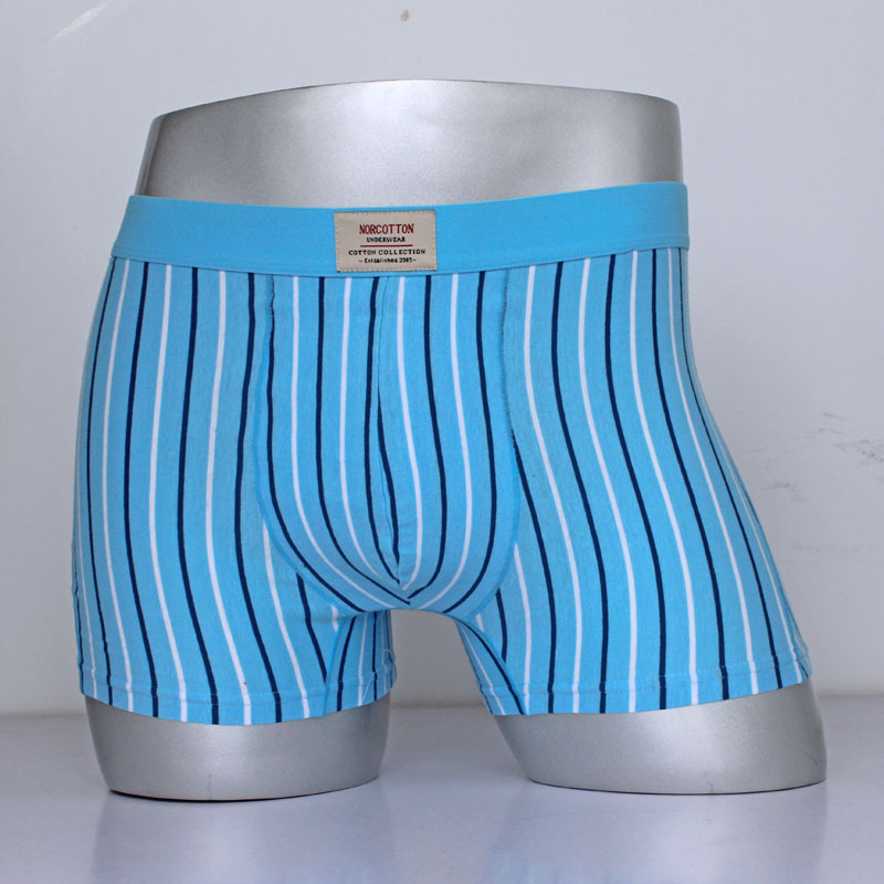 fashion men's cotton Lycra Fabric Bar Man In Waist Stripe Straight Angle Pants Special boxers Male Underpants(China (Mainland))