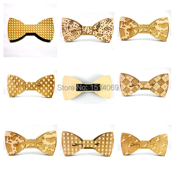 New Hot 2015 Fun Fashion Personality Wood Accessories Men Leisure Wooden Bow Ties Bowtie Butterflies Neckties Bowknot 8 Designs(China (Mainland))