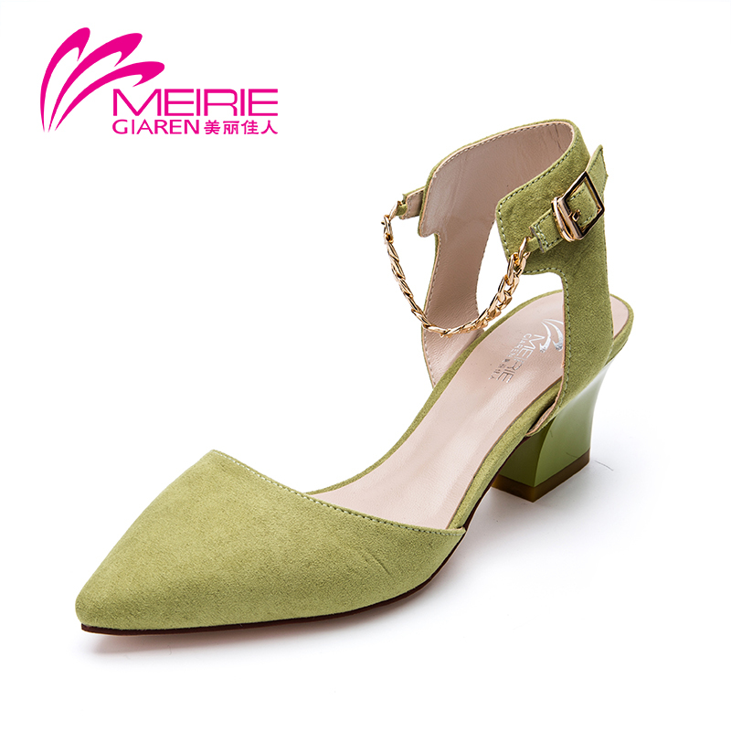 2015 Aokang New Arrival Vintage Shoes Women Sandals High Heel Sexy Platform sandals pointed Toe Wedge Party Dress Shoes