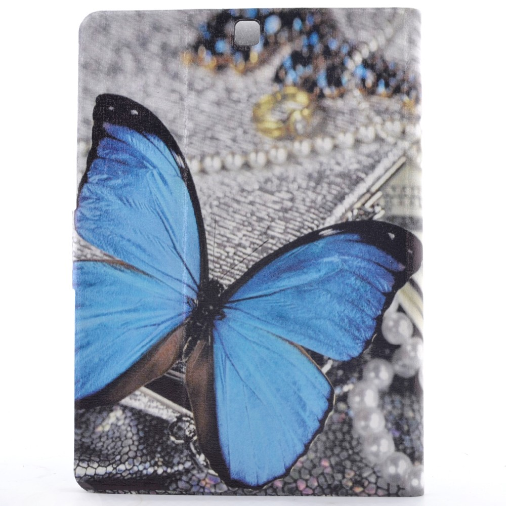 Cute Cartoon Tree Pen Butterfly Smile Stand Flip Leather Case For Samsung Galaxy Tab S2 8.0 T710 SM-T715 T715 Tablet Cover Coque