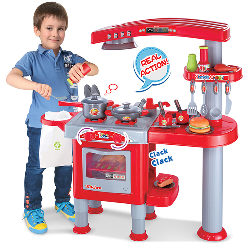 Hot sale Large child toy music kitchen toys kitchenware set(China (Mainland))