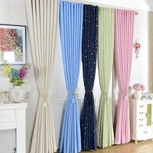 Modern Stars Blackout Window Curtains For Kids Boys Girls Bedding room Living room Elegent Bule Drapes Cortinas para sala(China (Mainland))