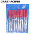 CRAZY POWER 10pcs Set 140mm 3mm Needle Files Jeweler Diamond Carving Craft Hand Tool For Wood