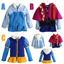 2015 New Autumn frozen coat girls Frozen Hoodies Elsa & Anna jacket with cap clothing for children girls(China (Mainland))