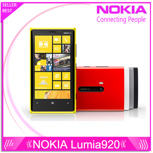 Original Phone Nokia Lumia 920 4.5'' Touch Wifi NFC Gps 3GB 4G 32GB Storage 8MP Camera Unlocked Windows Cell phone Free Shipping(China (Mainland))