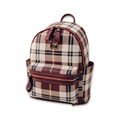 New Fashion Japan And Korean Style Backpack Trendy Plaid PU Casual Bag Women Fresh Style Designer