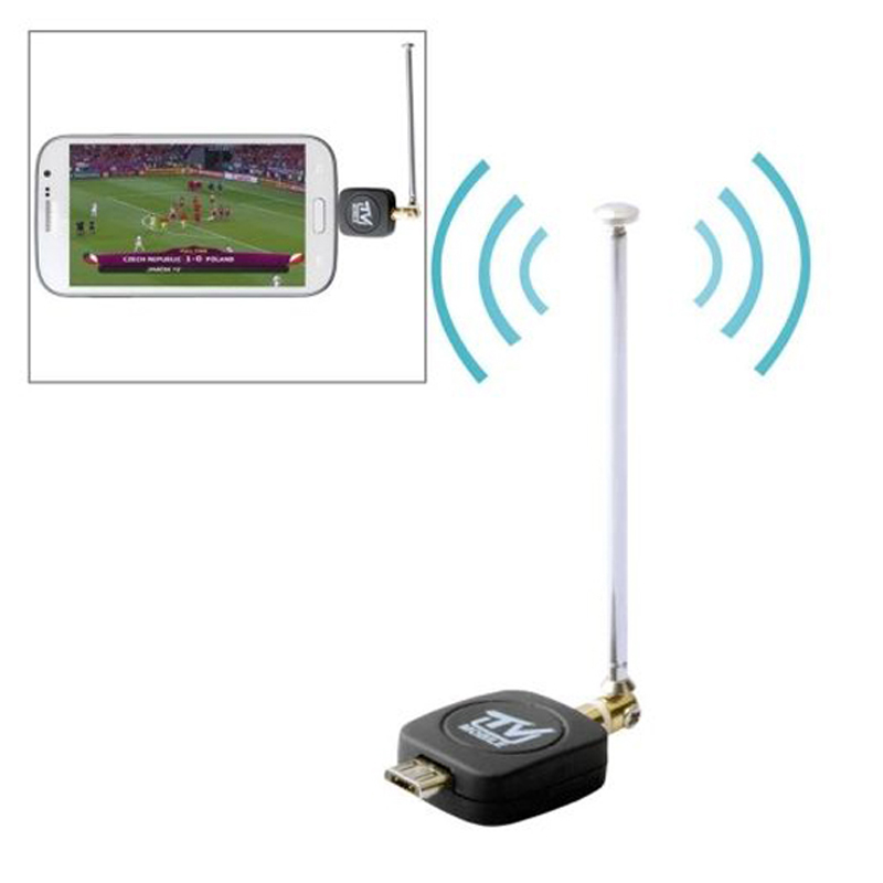 New Micro USB DVB-T/ISDB-T Digital TV Tuner Stick Receiver for Android Phones android smart tv hdmi dongle android mini tv INGT(China (Mainland))