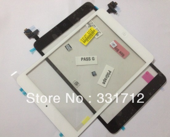 For Pad Mini Digitizer glass touch panel len with home button IC flex cable assembly