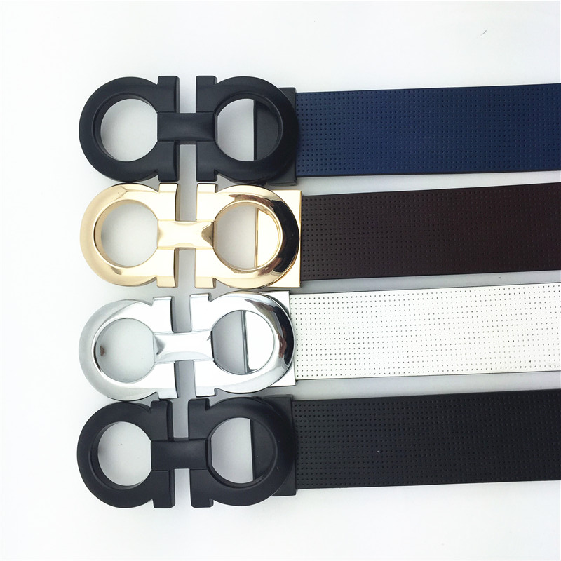 2016 New Brand designer Genuine Leather versae belts for mens high quality straps brand f buckle cinrurones homme luxury belts(China (Mainland))