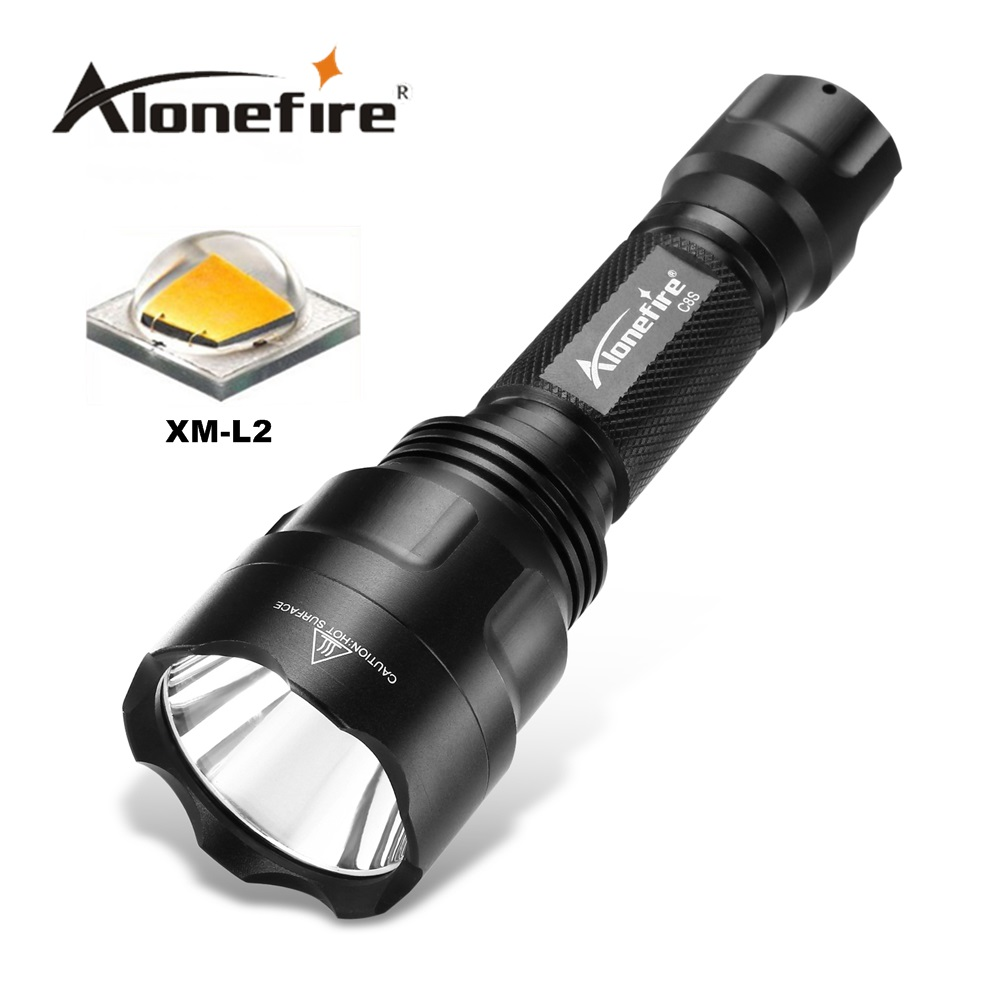 ALONEFIR CREE C8s led flashlight cree L2 hight power 2200 lumens 5 mode torch lanterna light camping without 18650 battery