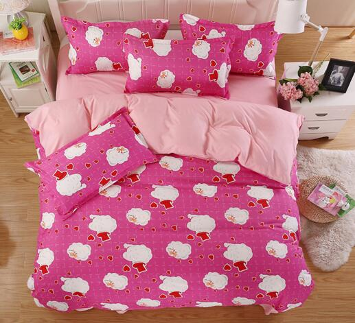 Bedding Sets Cartoon 4pcs Bed Set Duvet Cover Bed Sheet Pillowcase Soft and Comfortable king/queen/full/twin size for kids(China (Mainland))