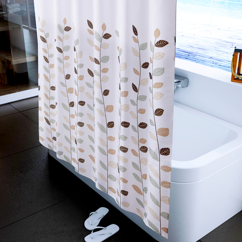 2015 lucky shower curtain terylene cloth shower curtain waterproof thickening Bathroom Products(China (Mainland))