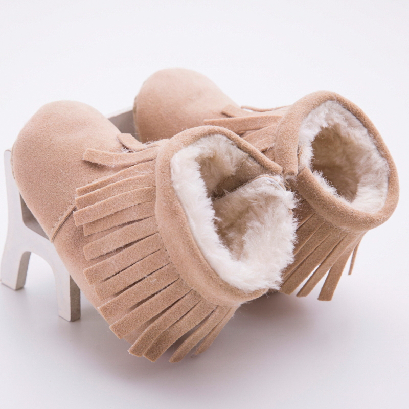 2016 Winter baby shoes boots infants warm shoes fur wool girls baby booties Sheepskin Leather boy baby boots fur newborns(China (Mainland))