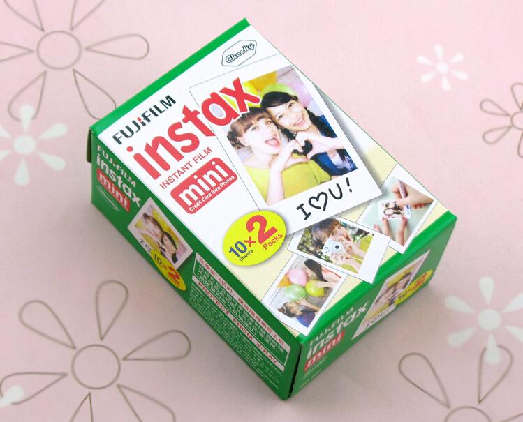 Fujifilm Instax Mini 8 film (20 sheets) Camera Instant mini 7s 25 50s 90 Photo Paper Film White Edge - Sputnik store