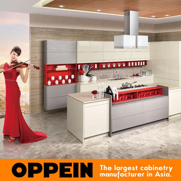 Hot Sale Kitchen Guangzhou Oppein Make Modular Kitchen Showrooms OP15-058(China (Mainland))