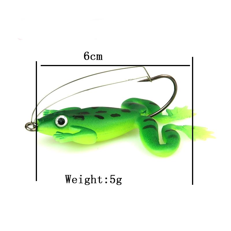 8pcs lot 6cm 5g frog soft bait fishing lures soft frog for Frog fishing lures