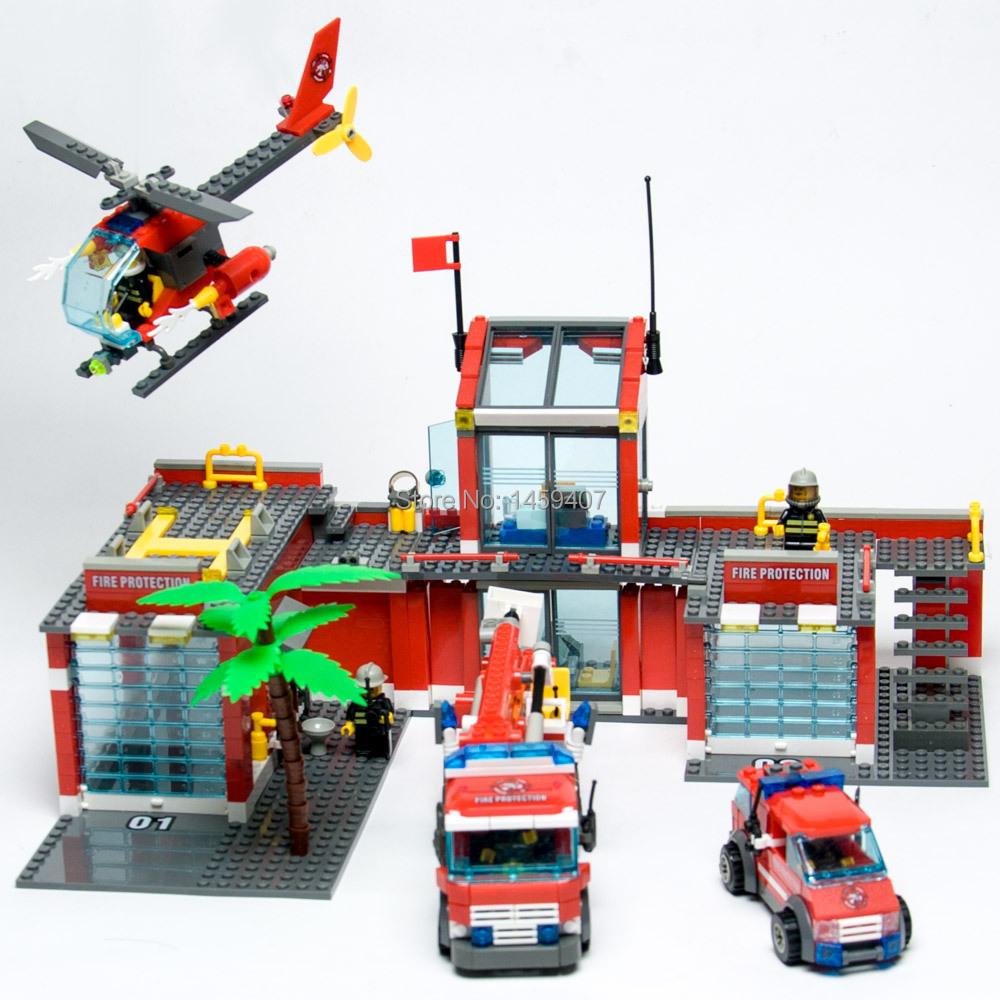 New original Kazi Super Large Fire Station 774pcs Building Blocks plastic Model Kit Education Bricks Toys Compatible with Decool(China (Mainland))