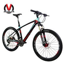 "SAVA 26*17"" Carbon Fiber Mountain Bike 30S MTB Bicycle  Bicicleta SHIMANO / SENSAN Derailleur 2 Colors Hydraulic Brake(China (Mainland))"