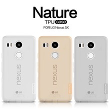 NILLKIN Ultra Thin Transparent Nature TPU Case For LG Nexus 5X, S Line Clear TPU Soft Back cover For LG Nexus 5X with package(China (Mainland))