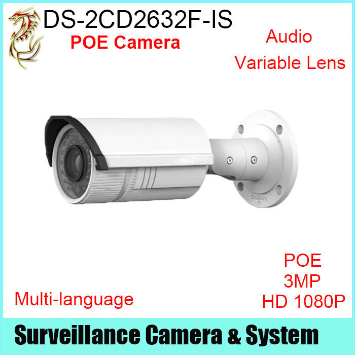CCTV Camera Hikvision DS-2CD2632F-IS 3MP HD1080P Audio Alarm Variable Lens 2.8mm-12mm Camera Surveillance Outdoor<br><br>Aliexpress