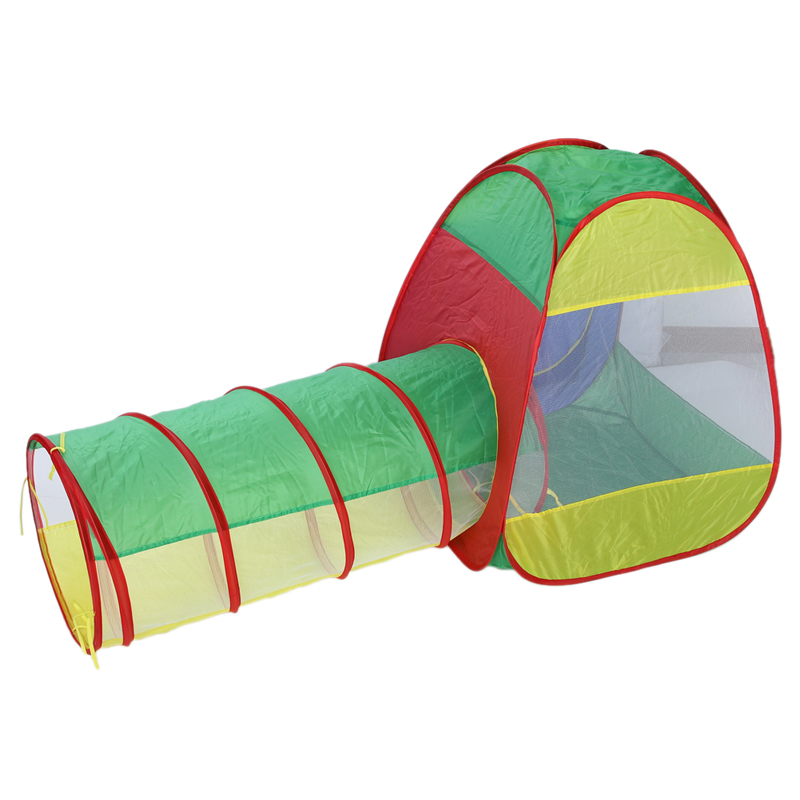 This Adventure Set play tent is an adorable gift for all kids. The spring-pop tunnel tube joins the cubby tent u0026 Teepee together to create a single play ...  sc 1 st  DHgate.com & Wholesale Pop Up Kds Play Tent Outdoor Fun Sports Ocean Ball Toy ...