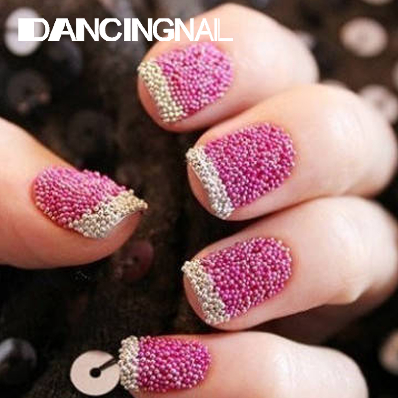 12pcs/pack New Nail Art Trend Caviar Manicure Decoration Nails Micro Beads DIY Acrylic UV Gel Tools Random Color(China (Mainland))