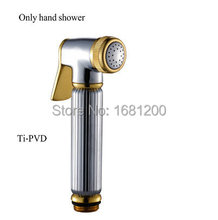 Buy 5 Inch Golden Polished Brass Hand Shower Set Bidet Sprayer Toilet Sprayer Pressure boost sprayer shower Bathroom Components 8898 for $18.00 in AliExpress store