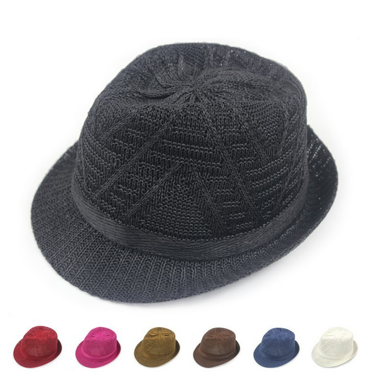Breathable stripe college style fashion straw sun hat outside summer shade topper unisex cool cap 7color 1pcs(China (Mainland))