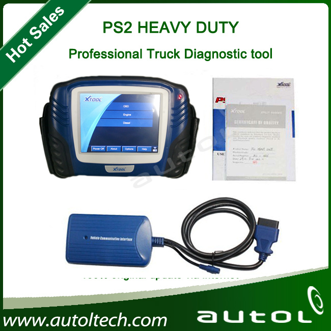 2013 Original PS2 Heavy Duty Truck Scanner High quality product PS2 Truck Diagnostic Tool 100% Original Update Via Internet(China (Mainland))