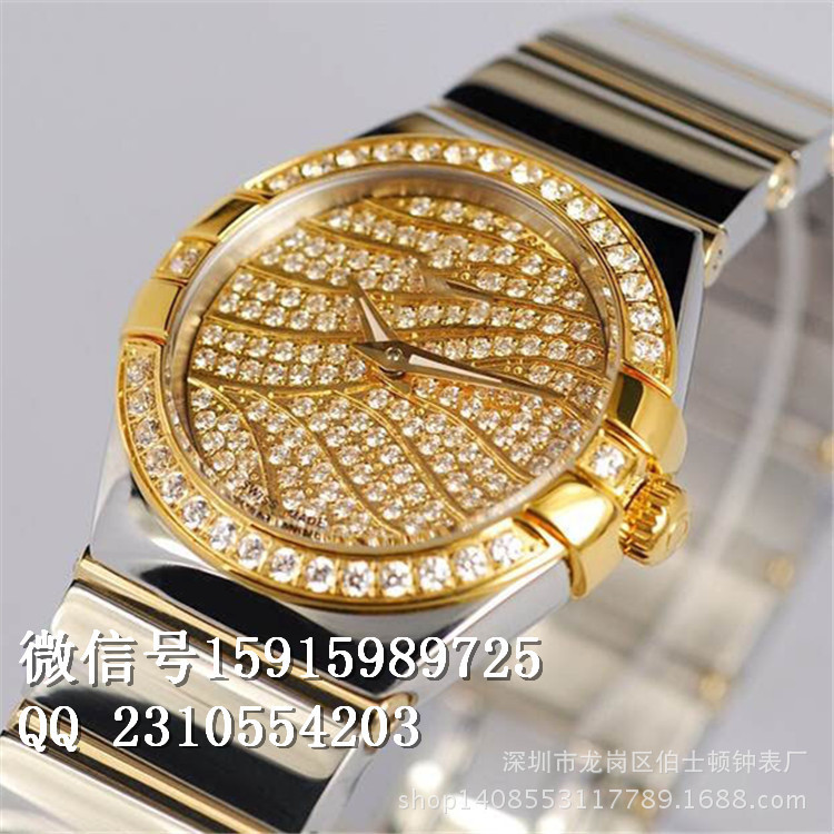 The new fashionable ladies watches Double Eagle Tyrant Swiss quartz watches women diamond watch steel(China (Mainland))