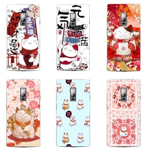 OnePlus 2 Phone Case One Plus Two Transparent 1+ Shell Ultra Thin Cover Silicon Lucky Cat Pattern Fundas - WISAP-IColorCase Store store