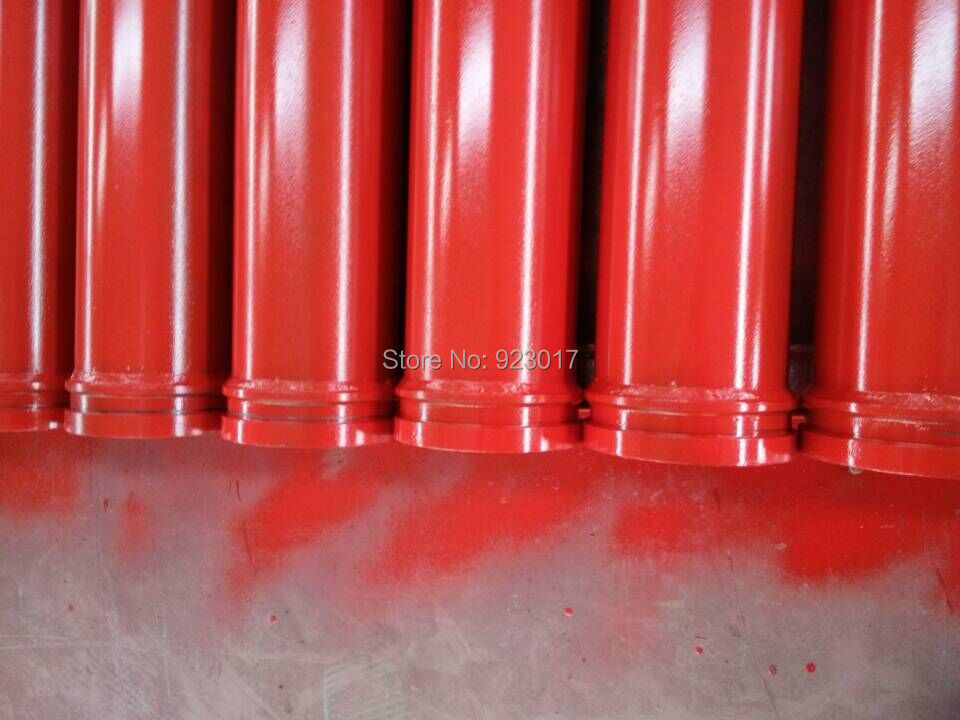 concrete pump pipe tube, putzmeister schwing spare parts DN125 ST52 steel pipe,3m seamless pipe, - Zhengshuo Machine co.,ltd store