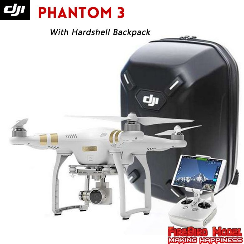 Dji phantom 3 Advanced Professional Drone with Extra Battery Hardshell Backpack build in 2 7K 4K