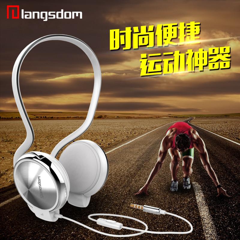HD007 music neckband earphones wired metal headset with mic font b sports b font font b