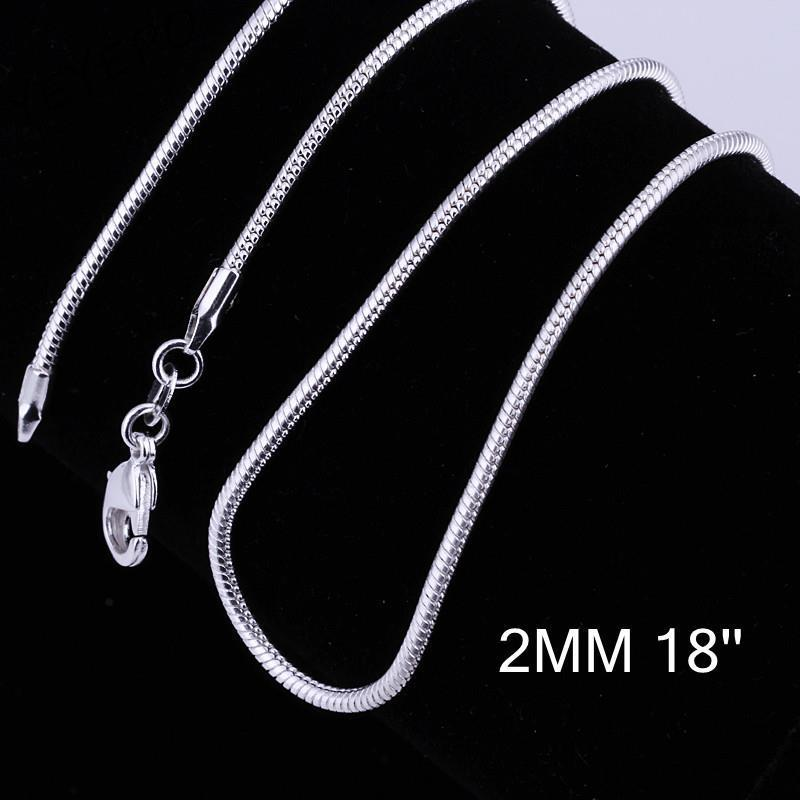 C010-18 Hot sale fashion different sizes silver snake chain
