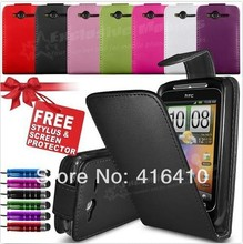 5 Colors PU Leather Case for HTC Wildfire S G13 A510e A510C FREE SCREEN PROTECTOR+ FREE 1 STYLUS(China (Mainland))