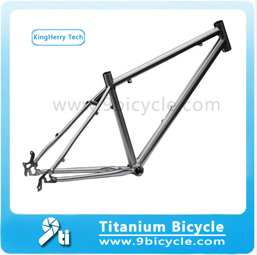 FRM02 Titanium MTB Frame With Bending Down Tube(China (Mainland))