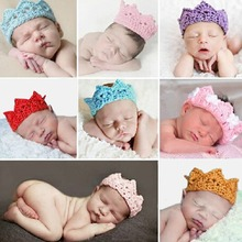 Baby Infant Headband Crown Knitting Crochet Costume Soft Adorable Clothes Newborns Photography Props Baby Photo Hat Cap(China (Mainland))