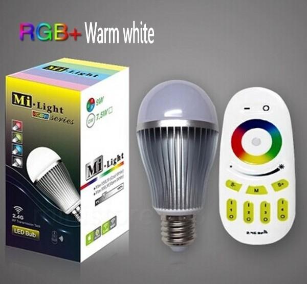 Светодиодная лампа Mi light mi.light milight 2.4g Wifi 9W E27 RGBW + 4 mi yeelight интеллектуальная лампа 9w e27 винтовая основа энергосберегающее беспроводное управление wifi