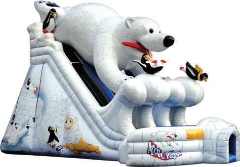 Factory direct inflatable slide, inflatable castle, inflatable obstacles, water park, etc ...Polar bears big slide- 221(China (Mainland))