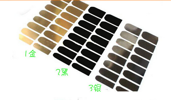 Wholesale Fashion Solid Gold Metallic Nail Stickers Black Nail Decals Silver Minx For Nail Art Nail accessories(China (Mainland))