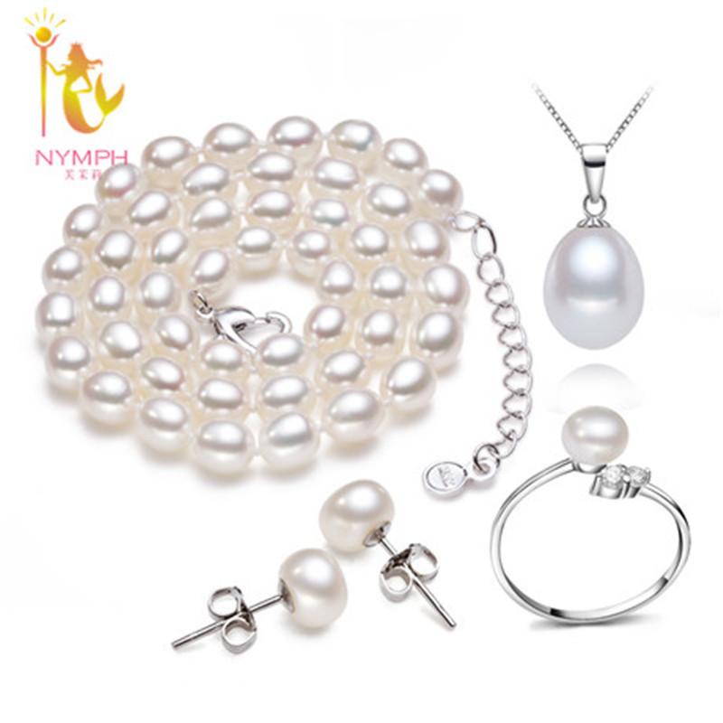 Нимфа подлинная ювелирные изделия перлы комплект, природный изящных ювелирных