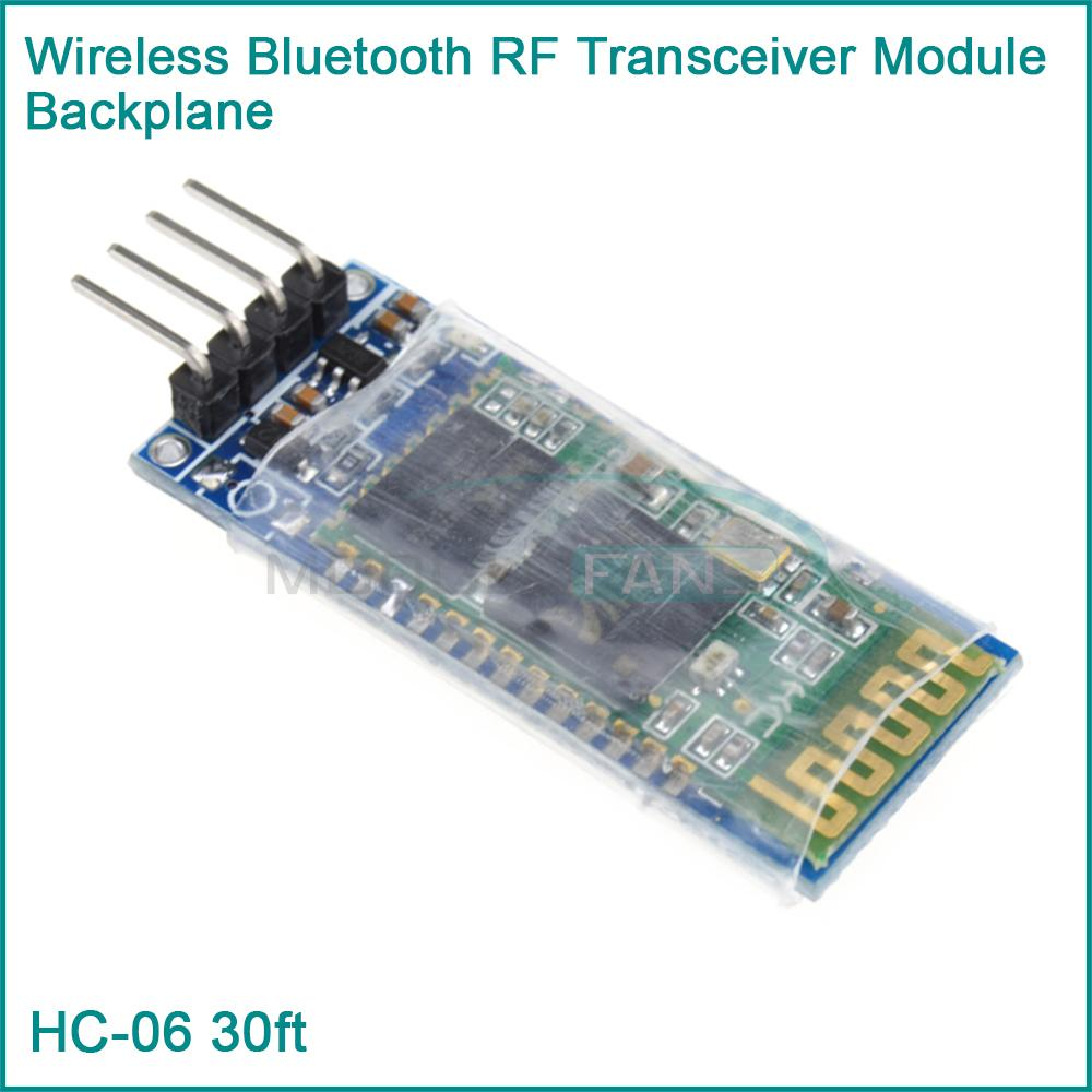 HC-06 RS232 Wireless Serial 4 Pin Bluetooth RF Transceiver Module With backplane(China (Mainland))