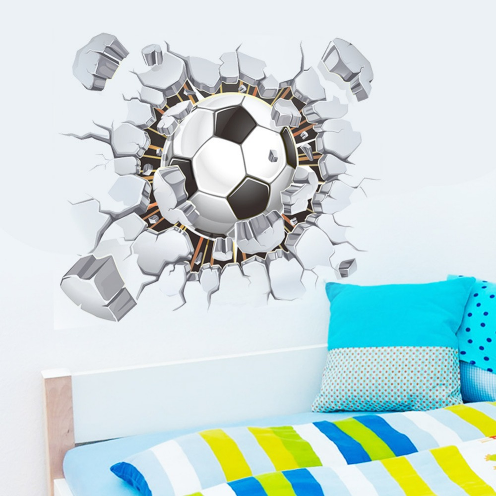 Free shiping Football Poqiang stickers living room for kids room wall stickers decorative stickers Football Club home decor PVC(China (Mainland))
