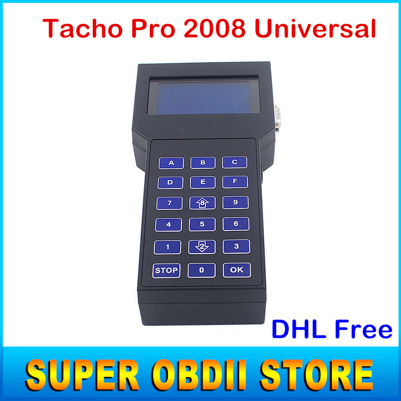 2016 Newest Tacho Pro 2008.07 Odometer Correction Tool Tacho Universal 2008 Dash Programmer Support Multi-languages DHL Free(China (Mainland))