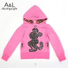 New 2015 Cartoon Baby Kids Girls Hoodie Autumn Tops print spring autumn Hoody Jacket children's clothing free shipping 41(China (Mainland))