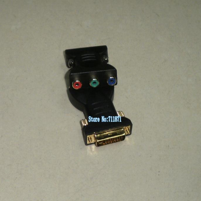 DVI to RCA Adapter 24+5 DVI Male to 3 RCA Female Connector DVI to RGB converter 24+5 DVI to RCA Red Green Bule Connector(China (Mainland))