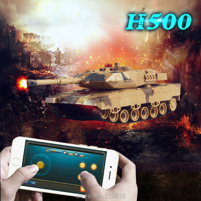 Free shipping Two Tanks Battle RC Tank/ Mobile Phone Bluetooth-Controlled H500(China (Mainland))